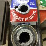 V-Belt pulley was replaced as well - original was pretty worn